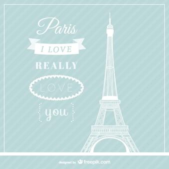Amor París vector