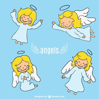 Dibujos de ángeles a color