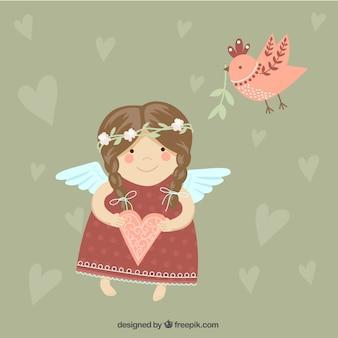 Ángel lindo de la muchacha