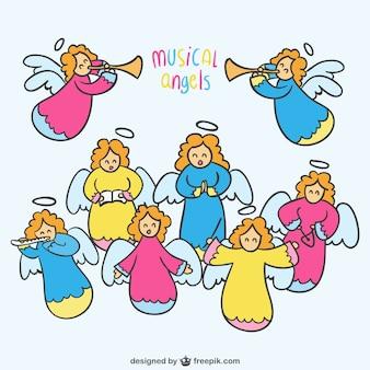 Ilustración vectorial ángeles