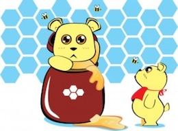 Animado lleva con vector de tarro de miel
