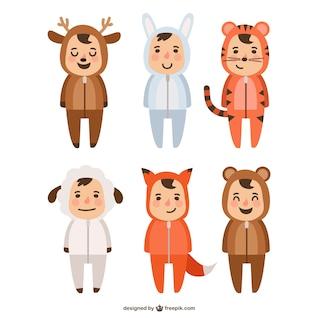Animales trajes