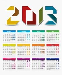 año calendario vector