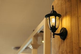 Antigua lámpara hotel iluminación de la vela