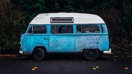Antiguo Volkwsagen Rusty Van