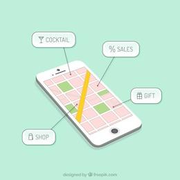 Aplicación de navegación Smartphone