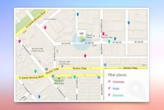 Aplicación google plantilla mapas
