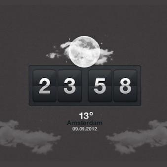 Interfaz de usuario del reloj aplicación del tiempo