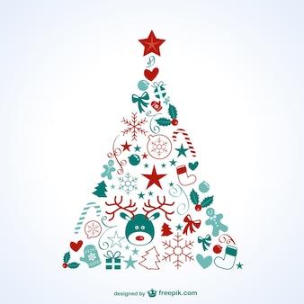 Árbol de Navidad con iconos