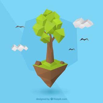 Árbol en estilo de pocos polígonos