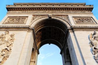 Arco del triunfo en parís, francia