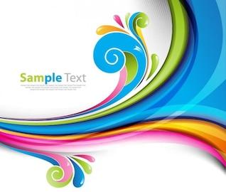 arco iris de colores de fondo ilustración vectorial
