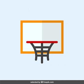 Aro de baloncesto en diseño plano