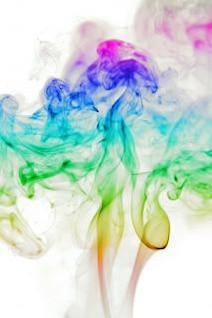 aroma del humo de color abstracto aromaterapia