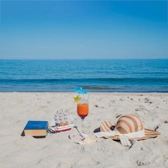 Arreglado objeto para relajarse en la playa