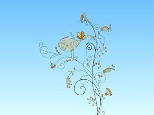 Arreglos florales vector de aves floral