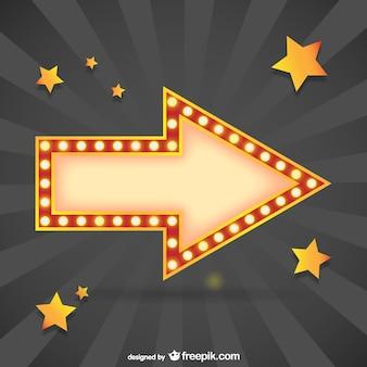Flecha con estrellas