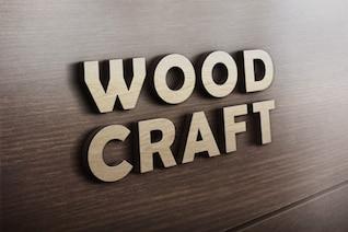 Arte de madera logo maqueta