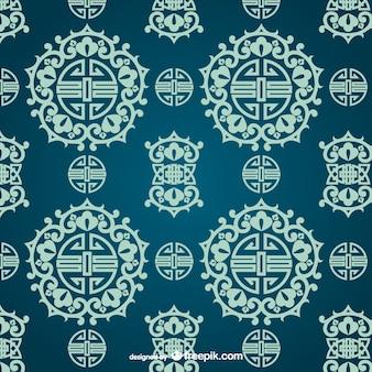 Patrón ornamental asiático