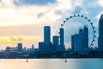 Asiático atracción símbolo gigante de Singapur