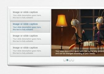 Atractivo apilados slider contenido estilo de papel con los botones