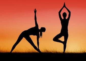 Ausencia de fitness plegada ocupación portátil