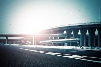 Autopista vista autopista vehículo moderno