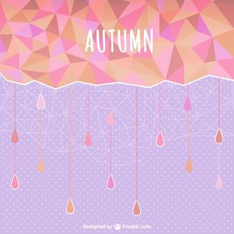 Fondo abstracto de otoño con lluvia