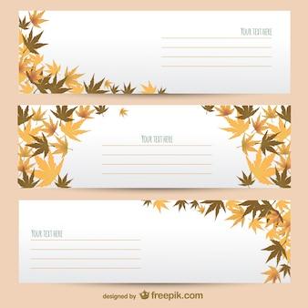 Plantillas de banner de otoño