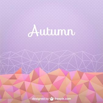Fondo de otoño con formas geométricas