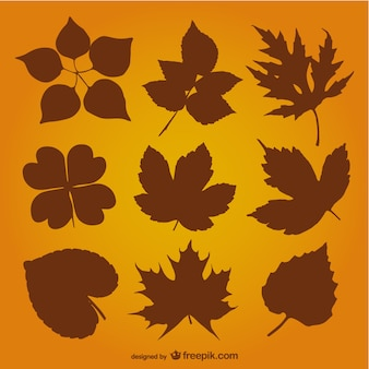 Siluetas hojas de otoño