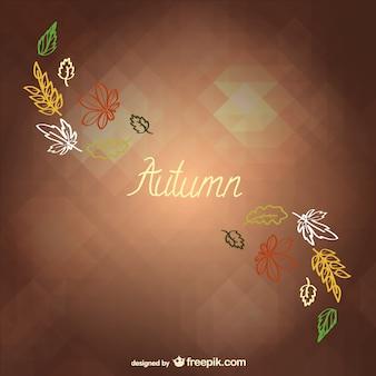 Fondo minimalista de otoño