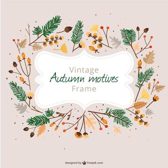 Marco vintage de otoño