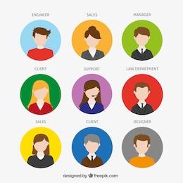 Avatares de la compañía
