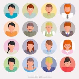Avatares de la gente de negocios