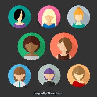 Avatares de mujeres modernas
