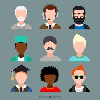 Conjunto de avatars