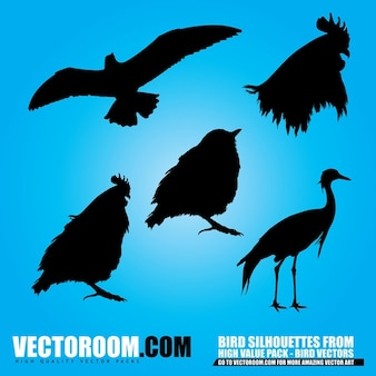 aves siluetas