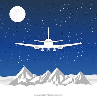 Avión blanco volando