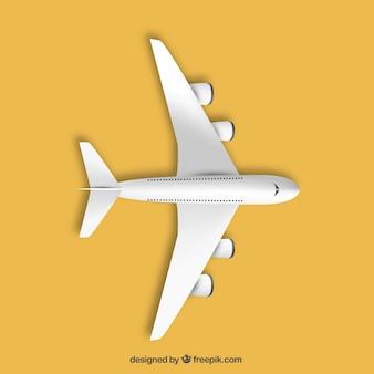 Avión en la vista superior