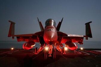 Aviones Super Hornet EE.UU. portaaviones militar
