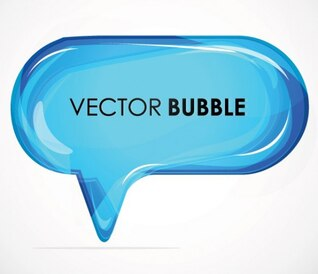 Azul brillante vector cuadro de diálogo