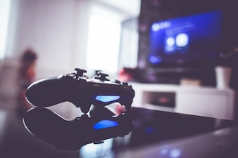 azul gamepad luz