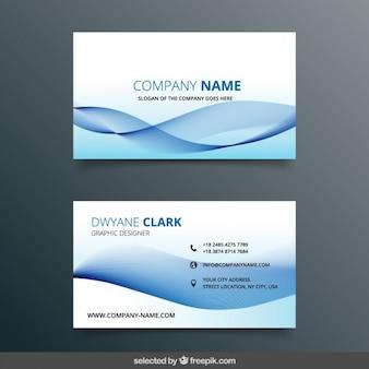 Azul tarjeta de negocio ondulado