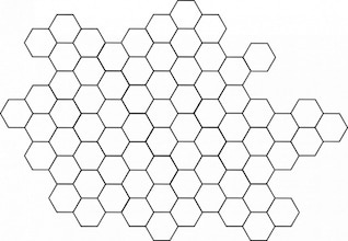 azulejo patrón de panal de abeja colmena hexágono