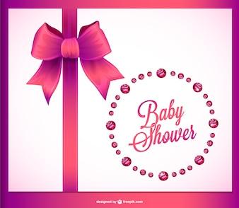 Diseño de tarjeta de Baby Shower