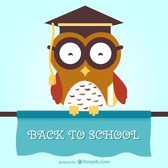 Búho sabio de vuelta a la escuela