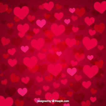 Fondo de corazones de la pasión