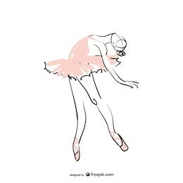Bailarina de ballet ilustración