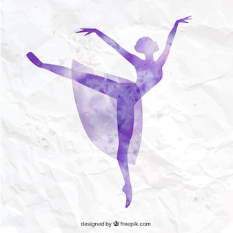 Bailarina pintada a mano
